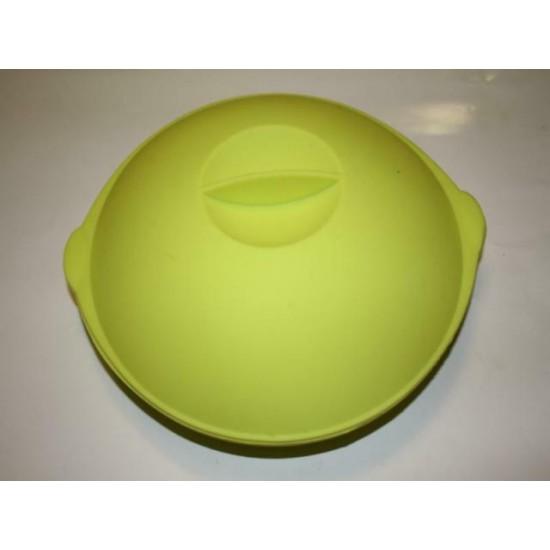 Силикон тарелка с крышкой №272