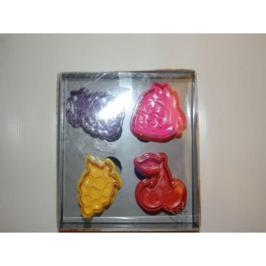 Мастика  набор фрукты цветные