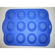 Силикон кекс из 12 больш. 350х260х35 D80 (н222) №424