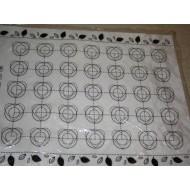 Силикон коврик на тканевой основе макарони (Н779) №668