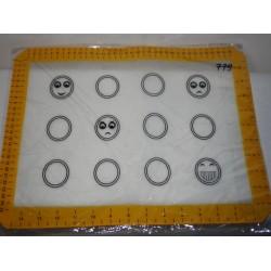 Коврик на тканевой основе смайлик 30х40см (Н784) №779