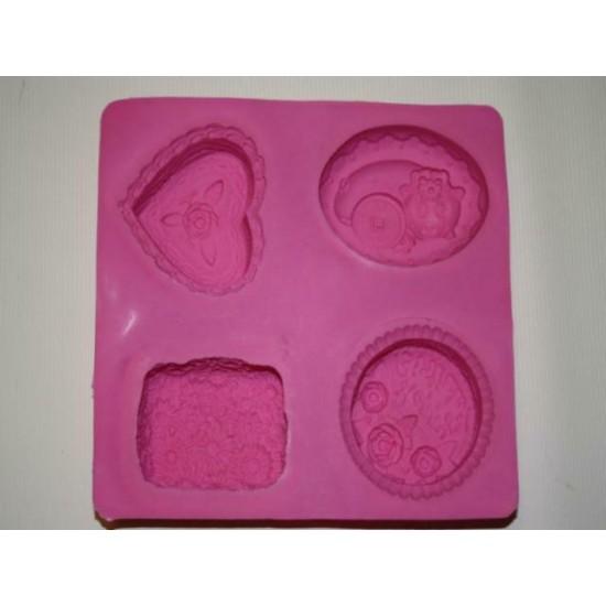 Силикон мыло из 4 роза+поросенок 195х215х28 d70 (1160)№175