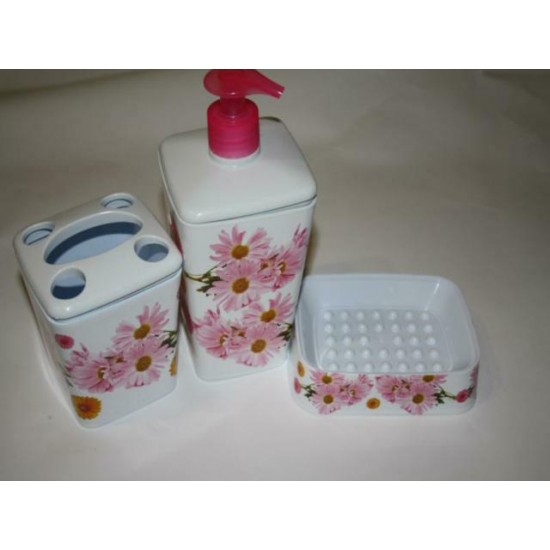 Набор для ванной комнаты (дозатор.мыльныца.подст. зубн. щеток) №392