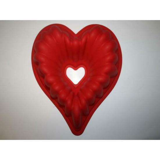 Силикон сердце со втулкой 250х250х100(нн119) №098